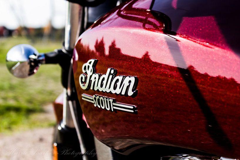 Indian Scout Rot Schwarz Schwarz von Westland Op Wielen