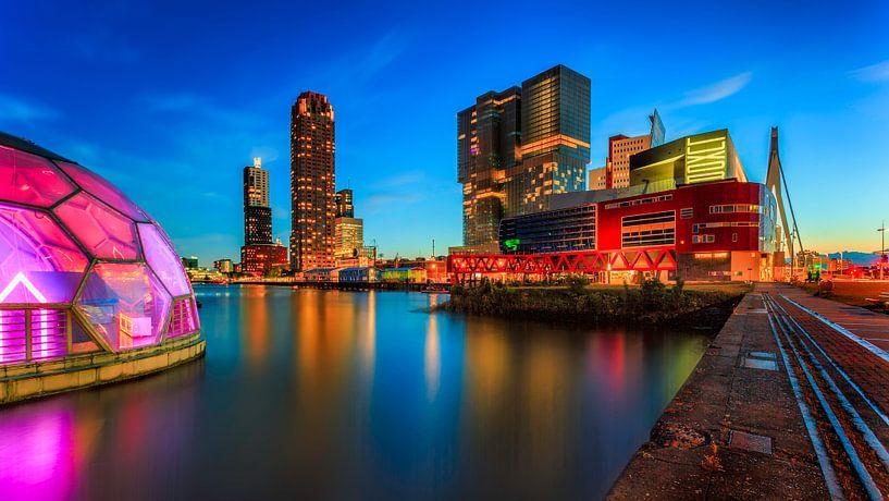 Rotterdam vanuit Katendrecht van Roy Poots