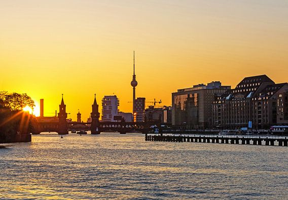 Berlijnse skyline Mediaspree