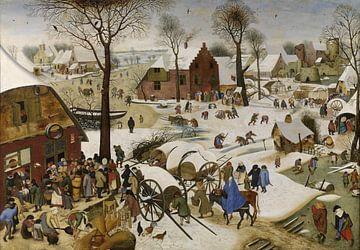 De volkstelling in Betlehem, Pieter Brueghel de Jonge van Meesterlijcke Meesters