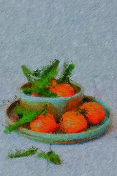 Stillleben Mandarinen von Maurice Dawson