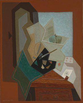 Juan Gris, De schilder en het raam - 1925 van Atelier Liesjes