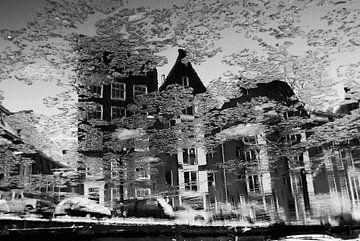 Amsterdam / Prinsengracht winter reflectie van Marianna Pobedimova