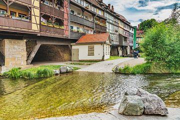 Blick auf die Fachwerkhäuser der Krämerbrücke von Gunter Kirsch