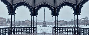 Stuttgarter Schlossplatz im Schnee von Keith Wilson Photography