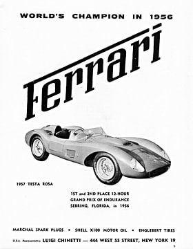1957 Ferrari Testa Rossa Werbung von Atelier Liesjes