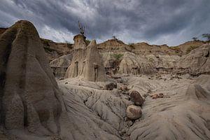 Grijze gedeelte Tatacoa-woestijn
