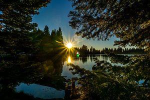 Sunset aan Lake Manzanita van