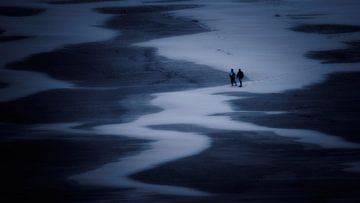 Wanderer am Nordseestrand von Keesnan Dogger Fotografie