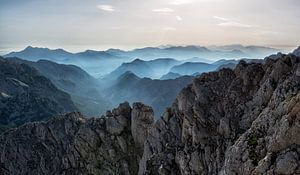 Berge im Nebel, Slowenien
