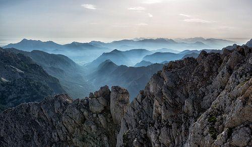 Mistige bergen van Digital Curator