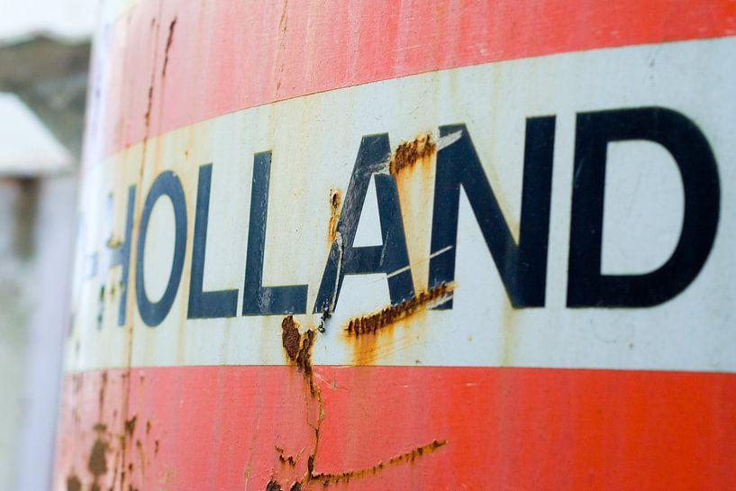 tank bedrukt met Holland van Mark Nieuwenhuizen