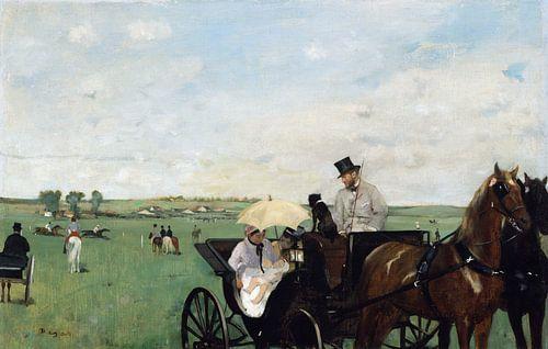 Edgar Degas. At the Races in the Countryside van 1000 Schilderijen