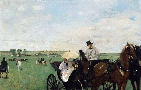 Edgar Degas. At the Races in the Countryside