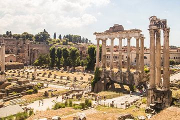 ruines in hartje Rome van Jacco Brink