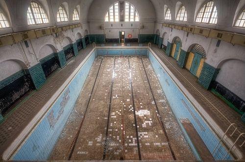Groot Verlaten Zwembad van Roman Robroek