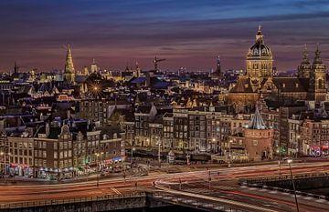 Skyline Amsterdam van Dennisart Fotografie