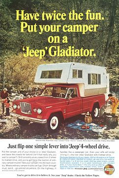 Werbung für Jeep Gladiator 60er Jahre von Jaap Ros