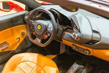 Ferrari 488 Spider Cabriolet Sportwagen Armaturenbrett von Sjoerd van der Wal