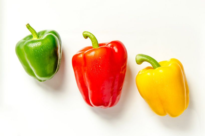 drie paprika's gratis bord van Dieter Walther
