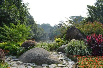 Guangzhou city park von Simone van der Heide