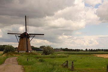 Mühle in Polder von Jani Moerlands