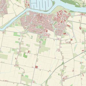 Kaart vanOud-Beijerland
