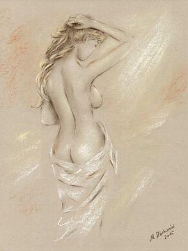 Göttin der Morgenröte - weiblicher Akt von Marita Zacharias