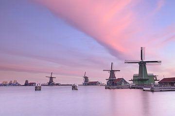 Mills Zaanse Schans bei Sonnenaufgang von John Leeninga
