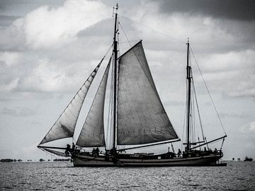 Relaxed dagje zeilen op het IJsselmeer in Nederland van BJ Fleers