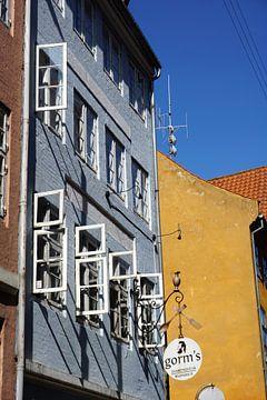 Gevel van Gorm's pizza in Kopenhagen van Folkert Jan Wijnstra