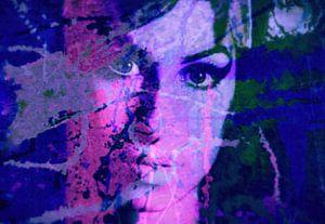 Amy Winehouse Splash Pop Art PUR