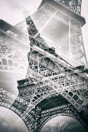 Eiffel Tower Double Exposure