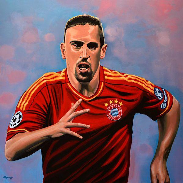 Franck Ribery schilderij van Paul Meijering