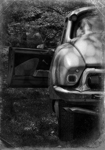 Citroën ID 19  Retro zwart-wit