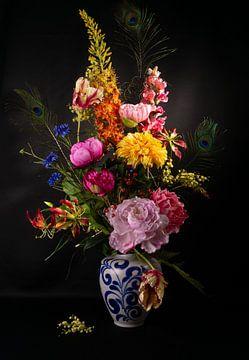 fleurs colorées sur simone swart