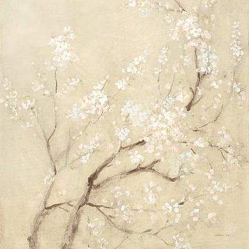 Witte kersenbloesems ik linnen gewas, Danhui Nai van Wild Apple