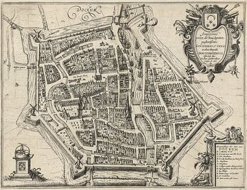 Carte de Dokkum, anno ca 1616. Cadre blanc sur Gert Hilbink