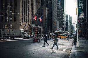 Schatten auf den Straßen in New York von