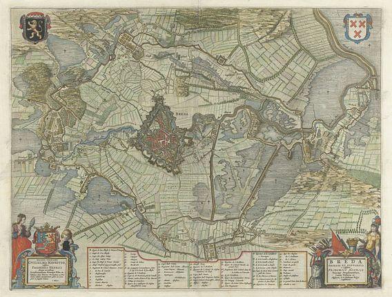 Verovering van Breda en de uittocht van het Spaanse garnizoen, 1637 van Rebel Ontwerp