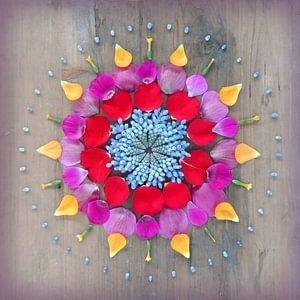 Bloemenmandala Happiness van