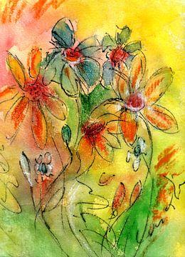 bloemenmassa van Claudia Gründler