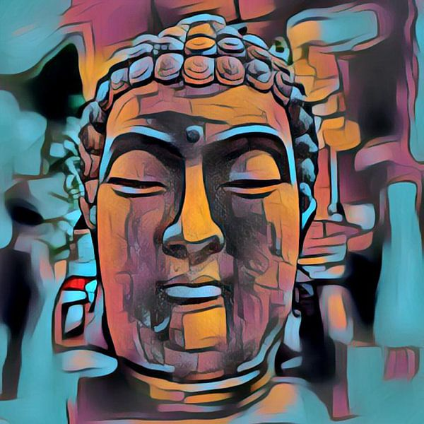 Buddha Bunt 07032021 - Chromium von Michael Ladenthin