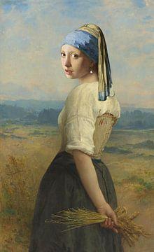 Mädchen mit Perle auf den Feldern