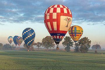 Luchtballonnen in een treintje van Fleksheks Fotografie