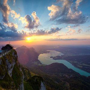 Hemelse poort bij zonsondergang van Silvio Schoisswohl