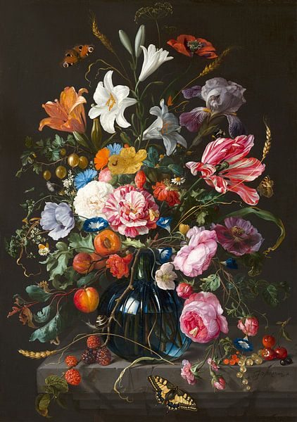 Stillleben mit Blumen in einer Vase von Jan Davidsz von Diverse Meesters