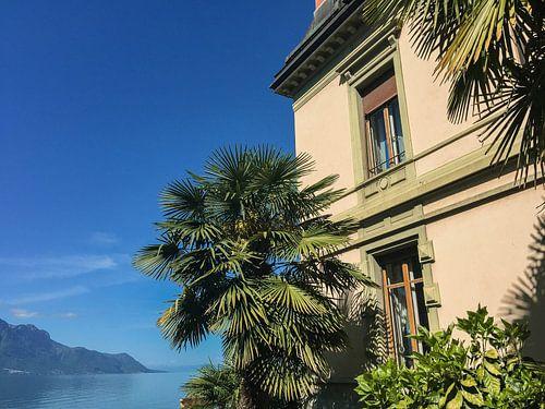 Huis aan het Meer van Genève van Stan Jansen