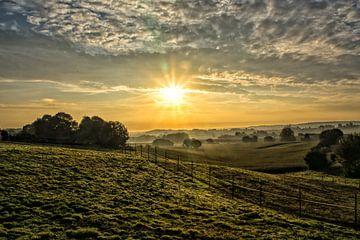Stralende zonsopkomst, Leefdaal van Manuel Declerck