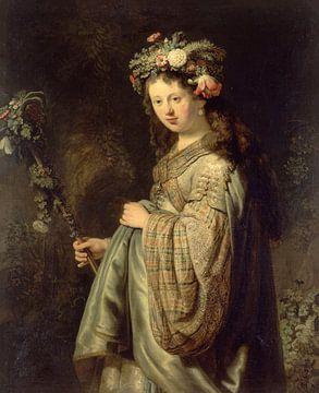 Saskia als Flora, Rembrandt sur